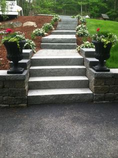 Lovely Steps and Walkway in Ashby, MA. By Ever-Green Yards & Stonesscapes. http://egdesigns.net.