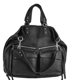 The Lindy Medium Tote has tons of function and convertibility to it, mixing the exclusive Casual Crystal leather with bold hardware accents to create such a fierce carry-all. This bag was designed for the woman who needs to carry everything! Expandable metal zipper gussets with a  detachable Hobo strap, four front pockets, three more inside, plus soft supple leather with vibrant coloring. * 100% Casual Crystal leather* Shiny Silver hardware*