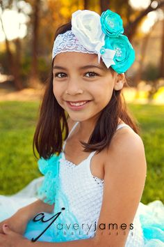 Tiffany Satin Flower Headband with Pearl by pinkpolarisboutique, $17.50