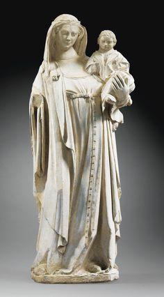 Lorraine, deuxième quart du XIVe siècle Vierge à l'Enfant