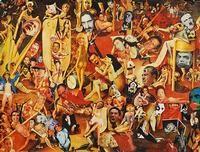 Martin Cohen Art Fountain House Gallery - Ariel Willmott, Gallery Director At the We Are Not Alone Exhibit 2015 along with Anthony Ballard Artist and Barry Senft Artist at Fountain House Gallery NYC #FountainHouse #FountainHouseGallery #AnthonyBallardArt #MartinCohenArt #BarrySenftArt #OutsiderArtists #WeAreNotAlone #ArielWillmott #MatthewHiggs #WhiteColumns