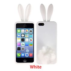 Cute-Soft-Rabbit-Bunny-TPU-Back-Protector-Phone-Cover-Case-Skin-For-iPhone-5-5S