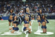 St. Louis Rams cheerleaders perform during the NFL week 2 football game against the Washington Redskins on Sunday, September 16, 2012 in St. Louis. The Rams won the game 31-28. (AP Photo/G. Newman Lowrance)