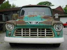 Purchase used 1955 chevy truck rat rod hot rod patina shop truck custom fast disc brake in West Lafayette, Indiana, United States Chevy 3100, Chevy Pickups, Chevy Camaro, Chevelle Ss, 1959 Chevy Truck, Chevrolet Trucks, Vintage Pickup Trucks, Old Trucks, Rat Rod Girls
