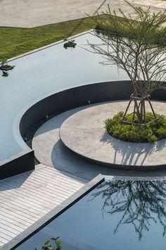 泰国曼谷湄南河AQUA公寓售楼部景观 by XSiTE-mooool设计