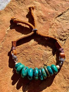 Turquoise and Suede Leather-based Bracelet The Ranch Hand symbol 1