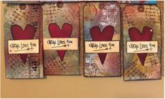 Mixed media tags...Jesus loves you...to be abandoned to share the Gospel message.