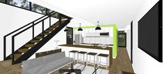 Foxworth Architecture - Container House 2 - Louisville, KY (Living Area)