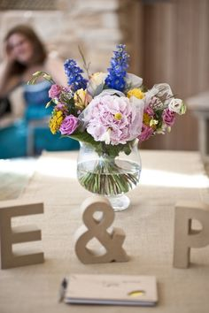 Monogram - letter decorations for a table at a wedding #monogram #wedding