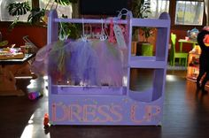 """Dress Up consoles   Do It Yourself Home Projects from Ana White  """"Make Believe""""  """"Play""""  Add mirror on one end, hooks on the other."""