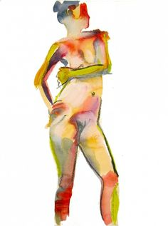 two minute pose #5 by Gretchen Kelly, painting by artist Gretchen Kelly