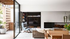 The Design Files Daily -Â Building On Dream Street Linear Fireplace, Brick Fireplace, Minimalist Interior, Minimalist Home, Cool Room Designs, Kennedy Nolan, Cleaning White Walls, The Design Files, Indoor Outdoor Living