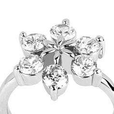 Crystal Flower Ring $40 (AUD) | FREE Delivery | Red Wrappings