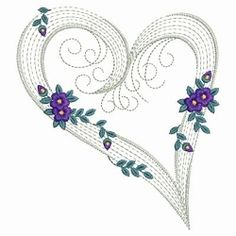 Rippled Floral Hearts 9 - 3 Sizes! | Valentine's Day | Machine Embroidery Designs | SWAKembroidery.com Ace Points Embroidery