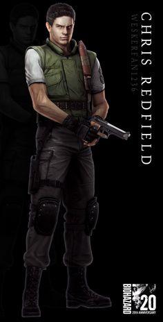 Resident Evil 20th Anniversary - Chris Redfield by WeskerFan1236.deviantart.com…
