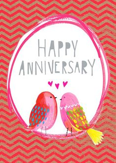 print & pattern: CARDS - new from paper salad Happy Aniversary Wishes, Anniversary Wishes For Parents, Anniversary Quotes For Husband, Anniversary Quotes For Him, Happy Wedding Anniversary Wishes, Anniversary Greetings, Anniversary Pictures, Happy Birthday Messages, Birthday Cards