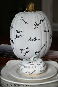 How to make a thankful pumpkin - create fun memories for the whole family eclecticallyvintage.com