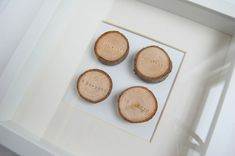 DIY Family tree. Stamp with birth dates and frame in shadow box.