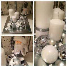 Adventskranz Silver grau weiß