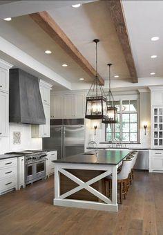 Top 12 Modern Farmhouse Kitchen Fixer Upper Design Ideas - Page 11 of 12 - Fajrina Decor Living Room Kitchen, Home Decor Kitchen, Kitchen Furniture, New Kitchen, Kitchen Flooring, Kitchen Sinks, Kitchen Islands, Cheap Furniture, Luxury Furniture