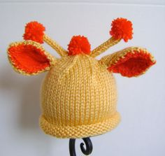 Baby Giraffe Hat by Sheila Zachariae | Knitting Pattern - Looking for your next project? You're going to love Baby Giraffe Hat by designer Sheila Zachariae. - via @Craftsy