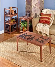 Lodge Living Room Furniture Collection Wood Rustic Cabin Primitive Home  Decor