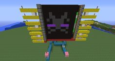 How to Create a Working Movie Screen in Minecraft with Pistons and Redstone « Minecraft