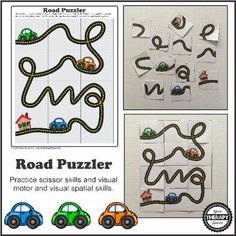 Road Puzzler FREEBIE - Visual Motor and Visual Spatial activity from www.YourTherapySource.com