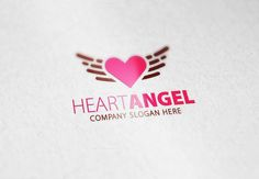 Heart Angel Logo by Creative Dezing on @creativemarket