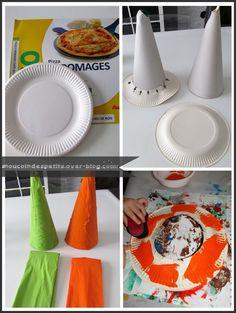 .. Chapeau d'halloween .. Halloween 2, Blog, Creations, Animation, Plates, Activities, Kindergartens, Arts Plastiques, Day Care