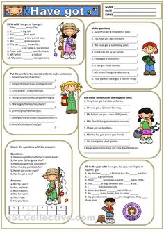 TO HAVE GOT worksheet - Free ESL printable worksheets made by teachersewr