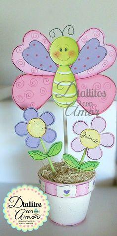 Clay Pot Crafts, Foam Crafts, Crafts To Make, Crafts For Kids, Arts And Crafts, Paper Crafts, Diy Crafts, Wood Craft Patterns, Baby Shawer