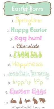 A Typical English Home: Free Easter Fonts Easter Fonts, Easter Printables, Fancy Fonts, Cool Fonts, Typography Fonts, Hand Lettering, Dafont, Computer Font, Easter Crafts
