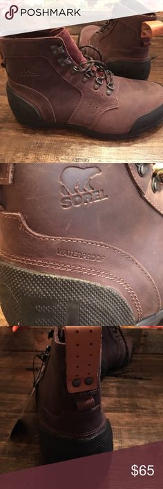 Men's Sorel Boots Waterproof!! Sturdy boots never worn, got as a gift and too big. Size 10! Sorel Shoes Boots