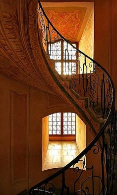 *Wrought Iron Spiral Staircase*