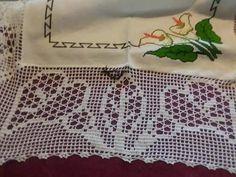 Filet Crochet, Projects To Try, Crochet Patterns, Cross Stitch, Malta, Charts, Crochet Doily Rug, Crochet Lace Edging, Crochet Curtains