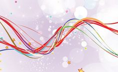 Colorful Wavy Lines Abstract Vector Background