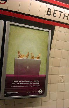 Diamond Jubilee Tube Ad at Bethnal Green London Underground Station
