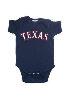 Texas Rangers Baby Creeper - Navy Blue Texas Creeper Romper http://www.rallyhouse.com/shop/texas-rangers-22650067?utm_source=pinterest&utm_medium=social&utm_campaign=Pinterest-TexasRangers $14.99