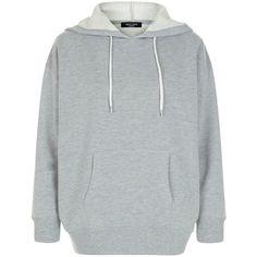 New Look Petite Grey Oversized Hoodie (79 BRL) ❤ liked on Polyvore featuring tops, hoodies, grey, grey hoodies, petite hoodie, grey hooded sweatshirt, sweatshirt hoodies and petite long sleeve tops
