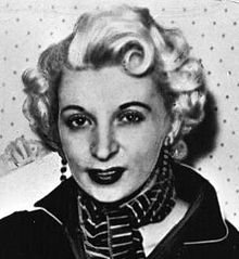 Ruth Ellis (9 October 1926 – 13 July 1955) was the last woman to be executed in the United Kingdom, after being convicted of the murder of her lover, David Blakely. On Easter Sunday 1955, Ellis shot Blakely dead outside a public house in Hampstead, and immediately gave herself up to the police. The picture of the attractive blonde murderess remains one of the iconic images of 1950's London.