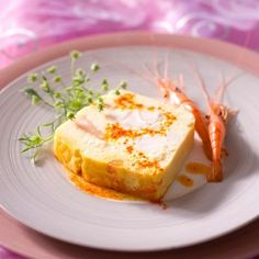 Very simple to make, the monkfish is cooked with the thermomix varoma with in the bowl well on a fish broth Foie Gras, Shrimp Recipes, Appetizer Recipes, Cooking Time, Cooking Recipes, Egg Benedict, French Food, Fish Dishes, Fish And Seafood