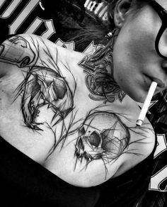 Sketch Style Tattoos by Inez Janiak