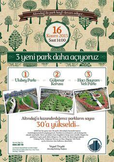 3 yeni park daha açıyoruz