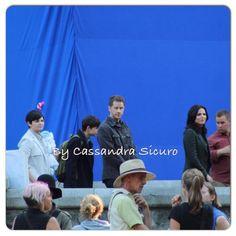 "Ginnifer, Josh, Baby Neal and Lana - Behind the scenes - 5 * 1 ""Dark Swan"" - 14 July 2015"