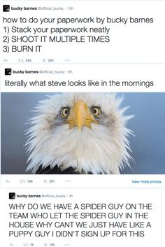 Bucky Barnes' twitter account I want to know this person personally