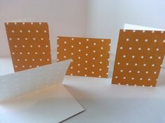 Sets of 4 - Brown with White Dots Folded Gift Tags