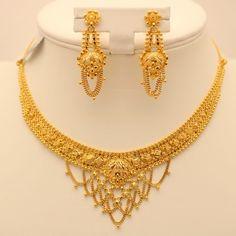 Image result for gold necklace set in 30 grams