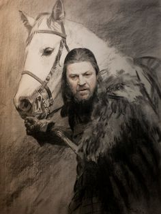 Items similar to Game of Thrones, Ned Stark Poster on Etsy Eddard Stark, Ned Stark, Game Of Thrones Winter, Game Of Thrones Books, Winter Is Here, Winter Is Coming, Daenerys Targaryen, Valar Dohaeris, Fire Book