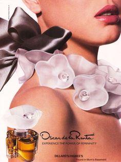 1989 Advertisement Oscar de la Renta Perfume Cologne Fragrance Designer Style Fashion Wall Art D Perfume Parfum, Perfume Hermes, Perfume Versace, Perfume Bottles, Perfume Good Girl, Oscar De La Renta, Fragrance, Soaps, Beauty